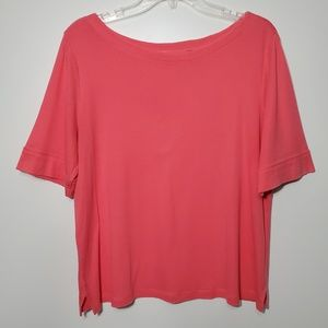 Chico's size 2 Short sleeve Tee pink